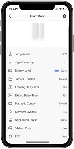 Hikvision AX PRO Sensorstatus en configuratie