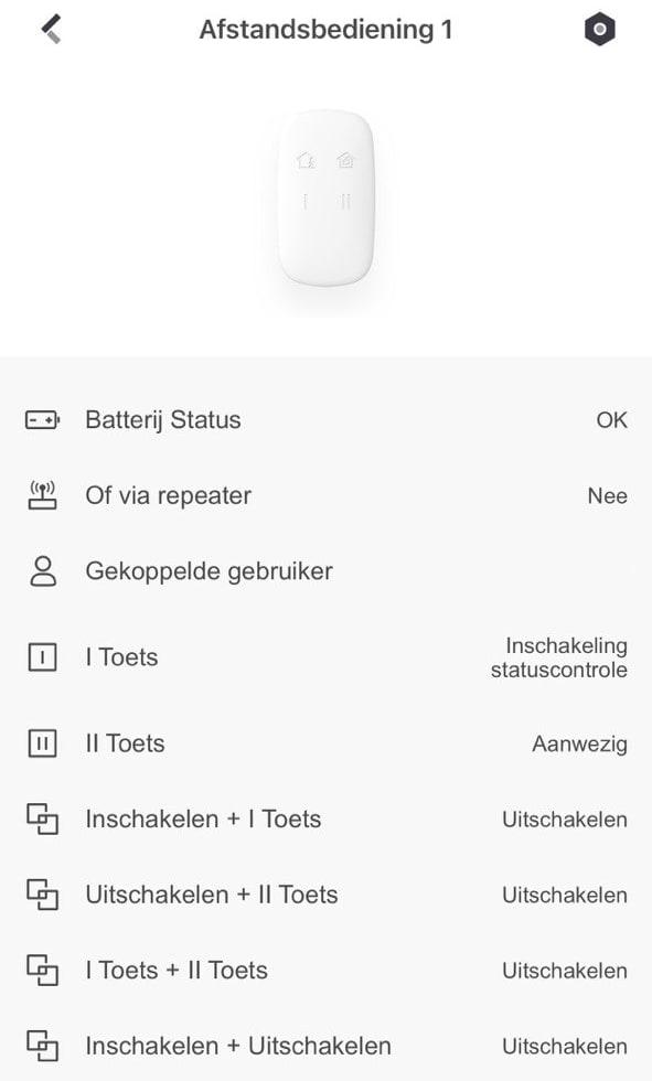 Hikvision Keyfob statusoverzicht
